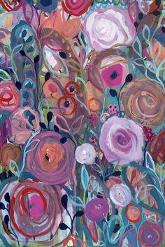 Floral Forest 24x36 by Carrie Schmitt at www.carrieschmittdesign.com
