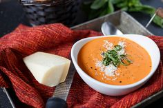 Tried & True--Quick and Easy Creamy Tomato – Basil Soup--Doubled this. Only used half the pepper & 3 onions. Then sneakily loaded this w/ 3 thinly sliced zucchini, sliced mushrooms, half a package of chopped cauliflower, a little spinach & shredded carrots. Yummy.