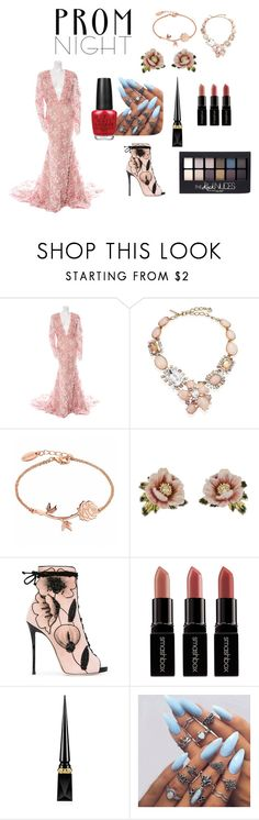 """""""Prom Night in the Garden"""" by marymayk ❤ liked on Polyvore featuring Naeem Khan, Oscar de la Renta, Les Néréides, Giuseppe Zanotti, Smashbox, Christian Louboutin, Maybelline and OPI"""