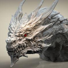 Fantasy Dragon, Fantasy Art, Fantasy Creatures, Mythical Creatures, Dragon Medieval, Dragon Anatomy, Sculpture Art, Sculptures, Dragon Sketch