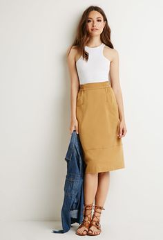 Front Pockets A-Line Skirt | Forever 21 - 2000154773