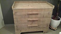 steigerhout commode - Google zoeken Filing Cabinet, Storage, Google, Furniture, Home Decor, Dressers, Purse Storage, Decoration Home, Room Decor