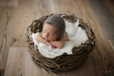 Cesto de cipó para fotografia newborn