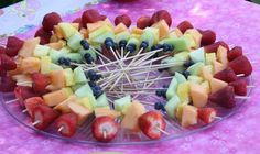 Rainbow Fruit Kabobs from Aldi for My Little Pony Birthy Party