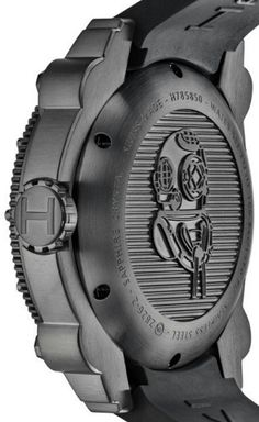 """The Martian Movie Watch: Matt Damon Wears A Hamilton Khaki Navy BeLOWZERO - As a diving watch, the Hamilton Below Zero is water resistant to 1000 meters (with a helium escape valve and 5.6mm-thick sapphire crystal) and should probably handle the depths of space pretty well. This reference H78585333 all black """"phantom"""" version comes in 46mm-wide steel case with a rotating diver's bezel. Inside the watch is a Swiss ETA 2826 automatic movement. Click on the image for more details..."""