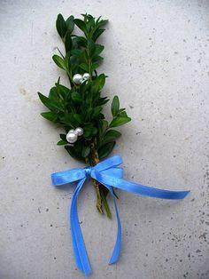 Svadba - Modré svadobné pierka s trojperličkou - 4360737_