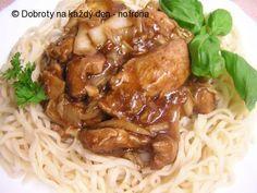 """Kuřecí """"čína"""" s ústřicovou omáčkou - Naše Dobroty Spaghetti, Meat, Chicken, Ethnic Recipes, Foods, Asia, Food Food, Food Items, Noodle"""