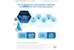 Panfleto online para divulgar o novo pacote de banda larga da globo.tv+.