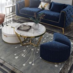 White Nesting Coffee Table with Ottomans Faux Marble Coffee Table with Stool Round Wood Coffee Table with Drawer
