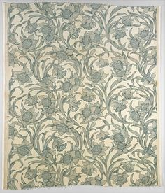 "Candace Wheeler (1827-1933), who probably designed this fabric, was a partner in Tiffany's short-lived interior decorating firm ""Louis C. Tiffany & Company, Associated Artists"" (1881-83) along with painter Samuel Colman and designer Lockwood de Forest."