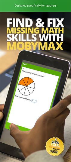 MobyMax finds and fixes missing math skills that are essential for math comprehension. On average, students improve 1 full grade level after only  40 hours of work in Moby Math. If you're looking for rich, interactive curriculum that addresses key elementary topics like place value, operations, and classifying shapes, you're looking for MobyMax! MobyMax covers all K-8 subjects and is specifically designed for teachers. Use MobyMax for free by clicking the image above!