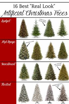 The Best Artificial Christmas Trees | A round-up of the best artificial Christmas trees for all kinds of budgets and decorating styles.