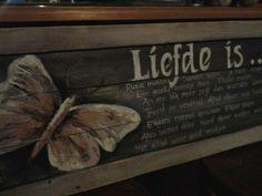 Vlinder met tekst