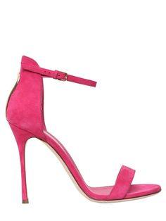SERGIO ROSSI 105Mm Blink Suede Sandals, Fuchsia. #sergiorossi #shoes #sandals