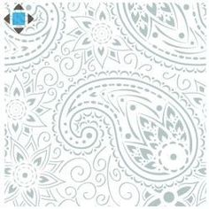 Stencils for walls: Paisley.furniture,ceilings,floors,fabrics ...