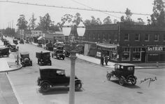 Los Feliz (formerly Tropico) Boulevard at San Fernando Road, 1920's. The area, which is now known as Atwater Village, was first promoted as Tropico as shown in this pamphlet from 1903.