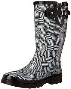 Western Chief Women's Stripe Dot Rain Boot