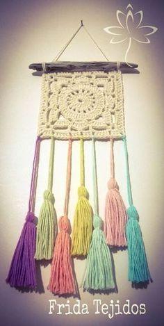 Crochet Wall Art, Crochet Wall Hangings, Crochet Diy, Crochet Curtains, Crochet Home, Love Crochet, Crochet Crafts, Crochet Doilies, Yarn Crafts