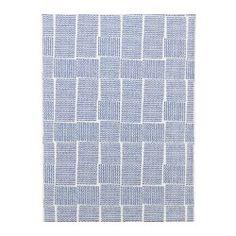 "SOMMAR 2016 fabric, light blue Width: 59 "" Pattern repeat: 25 "" Area: 10.33 sq feet Width: 150 cm Pattern repeat: 64 cm Area: 0.96 m²"
