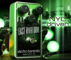 The recently introduced East River Drive is Electro-Harmonix's first overdrive pedal built around the JRC4558 IC. Its symmetrical overdrive ...