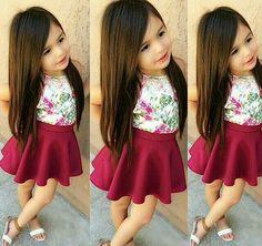 new ideas moda infantil feminina bebe Baby Girl Fashion, Toddler Fashion, Fashion Kids, Cute Little Girls Outfits, Little Girl Dresses, Outfits Niños, Kids Outfits, Moda Kids, Baby Dress Design
