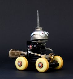 Scooter - Found Object Robot Assemblage Sculpture By Brian Marshall