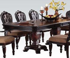 Acme 60400 Le Havre Dark Brown Dining Table