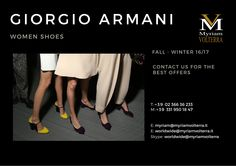 PRE ORDER GIORGIO ARMANI FALL WINTER 16/17 WOMEN SHOES at Myriam Volterra Luxury Buying Office! We offer you the best discounts and excellent service to complete a successful trade!