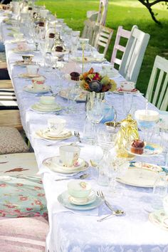 Love the set up!! Mulberry Musings: Tabitha's Tea Time Bridal Shower