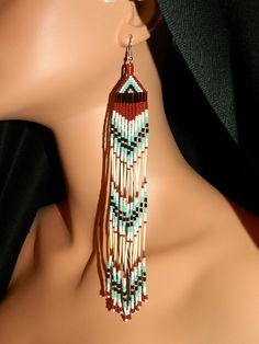 quilled earrings, Lakota Charm