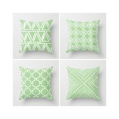 Throw Pillow - Modern Fern Green and White Geometric triangle circle dot - Throw Pillow Cover 16 18 20 24 inch by ButtercupForrest on Etsy
