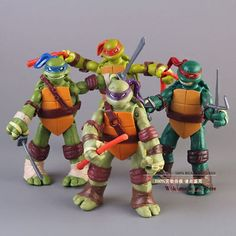 New teenage #mutant #ninja #turtles action figures toys tmnt set of 4 - uk seller,  View more on the LINK: 	http://www.zeppy.io/product/gb/2/201218712347/