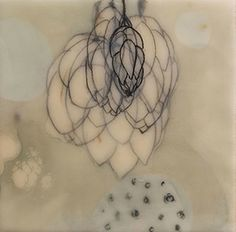 Stephanie Hargrave April, encaustic on birch
