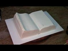 How To Make A Book Cake / Cake Decorating - YouTube