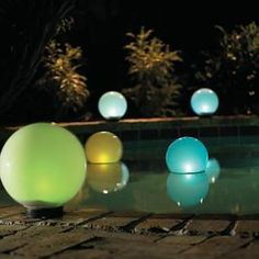 Floating solar lights - for my pool