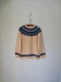 Vintage Nordic Sweater ... 60s Fair Isle by sparvintheieletree, $52.00
