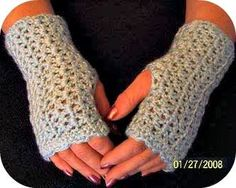 "Elegant Wrist Warmers By Julee A. Reeves        download now   Materials:  2-3 ounces of Simply soft  ""H"" hook   Special Stitches:  V-Stitc..."