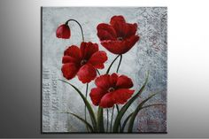 ramos de flores grandes para colorear - Buscar con Google Small Canvas Paintings, Paintings I Love, Original Paintings, Canvas Art, Acrylic Painting Lessons, Mini Canvas, Watercolor Flowers, Painting Inspiration, Poppies
