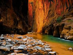 Sandstone Cliffs, Zion National Park, Utah