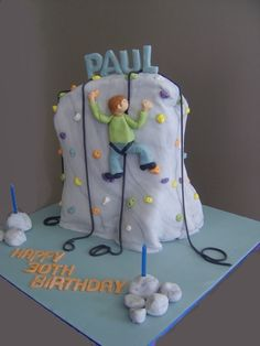 Rock Climbing Wall Cake - Yahoo Image Search Results