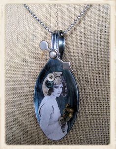 altered spoon by guriana, via Flickr. I like this i would use a copy of a family photo to make it personal.