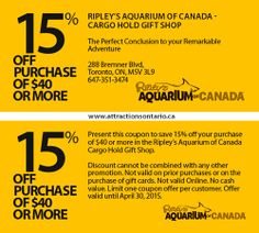 Contact Us here at Attractions Ontario - Attractions Ontario Ontario Attractions, Ripley Aquarium, Coupons, Toronto, Real Estate, Adventure, Real Estates, Coupon, Fairytail
