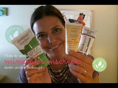 How to Wear Mineral Sunscreen Under Makeup (Video) - http://www.mommygreenest.com/how-to-wear-mineral-sunscreen-under-makeup-video/