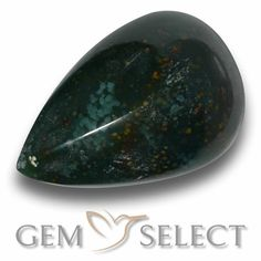 GemSelect features this natural untreated Bloodstone from Madagascar. This Green Bloodstone weighs 9ct and measures 16.9 x 11.5mm in size. More Pear Cabochon Bloodstone is available on gemselect.com  #birthstones #healing #jewelrystone #loosegemstones #buygems #gemstonelover #naturalgemstone #coloredgemstones #gemstones #gem #gems #gemselect #sale #shopping #gemshopping #naturalbloodstone #bloodstone #greenbloodstone #peargem #peargems #greengem #green Green Gemstones, Loose Gemstones, Natural Gemstones, Buy Gems, Gem S, Gemstone Colors, Stone Jewelry, Shades Of Green, Birthstones