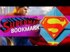 [Time-Lapse] - DIY Superman Bookmark Corner Tutorial - YouTube