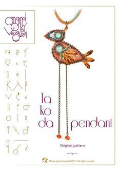 Takoda pendant with Swarovski rivoli  PDF instruction for