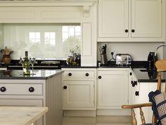 Better example of glass splashback in chimney breast Elegant Kitchens, Grey Kitchens, Aga Kitchen, Kitchen Ideas, Kitchen Grey, Kitchen Hoods, Kitchen Inspiration, Kitchen Backsplash, Kitchen Interior