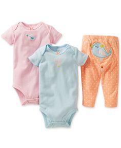 Carter's Baby Girls' 3-Piece Birdie Bodysuits & Pants Set - Kids Baby Girl (0-24 months) - Macy's