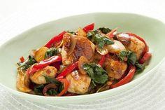 Chicken with chili paste Thai.
