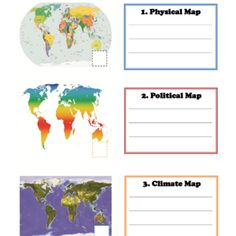 Learning Maps for Kids – Political Map, Physical Map, Climate Map #geography #maps
